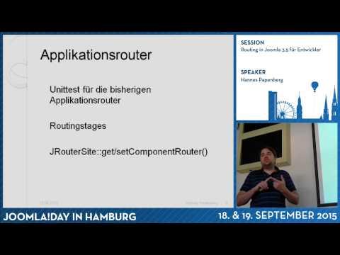 Routing in Joomla 3.5 für Entwickler