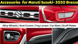 Accessories For 2020 Brezza With Prices | Ujjwal Saxena