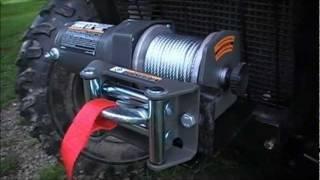 Assembling a Winch Mount & BadLand Winch on a ATV 4 Wheeler
