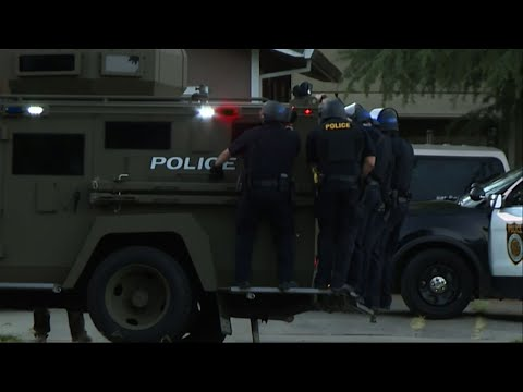 A Sacramento police officer was wounded Wednesday by a rifleman who also fired at other officers. Police said the shooting scene remained active and dangerous on Wednesday night. (June 20)