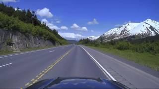 A drive over Turnagain Pass, Seward Highway, Dashcam Alaska