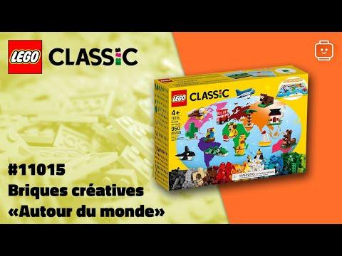 """Vidéo LEGO Classic 11015 : Briques créatives """"Autour du monde"""""""
