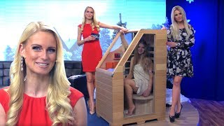 newgen medicals Kompakte Infrarot-Sitzsauna aus Hemlock-Holz, 760W, benötigt 0,62 m²
