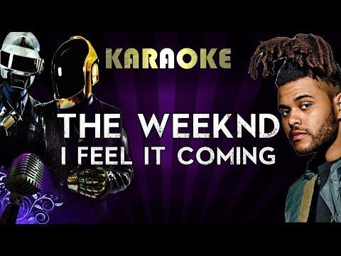 The Weeknd Ft. Daft Punk - I Feel It Coming   Official Karaoke Instrumental Lyrics Cover Sing Along