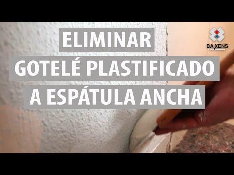 Eliminar gotelé plastificado a espátula ancha