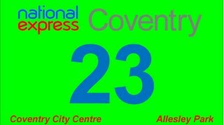 National Express Coventry: Route #23 (Pool Meadow - Allesley Park)