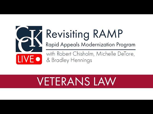 Revisiting RAMP (Rapid Appeals Modernization Program)