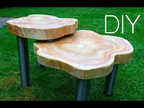 Designer Holztisch im Vintage-Stil - So gehts!