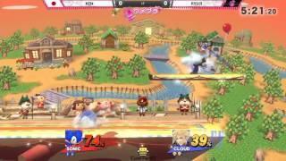 ウメブラ BenQ ZOWIE Cup LF(前半) : KEN vs Ryuji / スマブラWiiU 大会