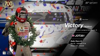 JOT381 GRAN TURISMO SPORT 150818 DRAGON TRAIL LAMBO HURACAN 1st to 1st ONLINE RACE 4 LAPS 700th WIN