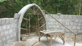 Aircrete Dome Home, Yap, Micronesia, Domegaia Method, 4/7/19 Update