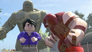 Hulk Vs Big Abomination Vs Juggernaut - LEGO Marvel Super Heroes Games