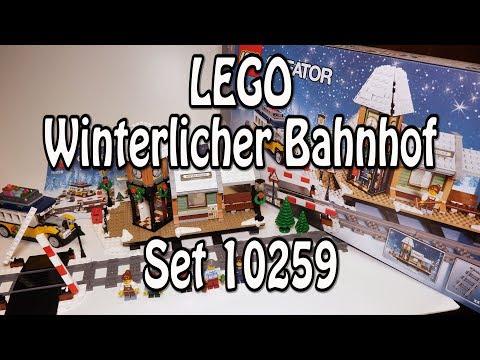 Test LEGO Winterlicher Bahnhof (Creator Set 10259 Review deutsch)