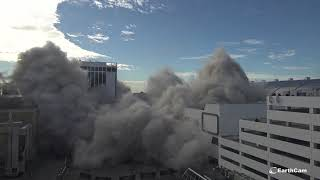 Implosion of Trump Plaza Hotel and Casino in Atlantic City in 4K