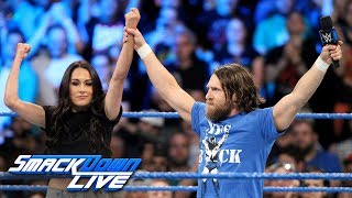 Brie Bella Returns To Challenge Miz & Maryse To Match At Hell In A Cell:SmackDown LIVE, Aug 21, 2018