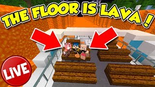 Minecraft ITA - LIVE - THE FLOOR IS LAVA IN LIVE CON SPJOCKEY!!