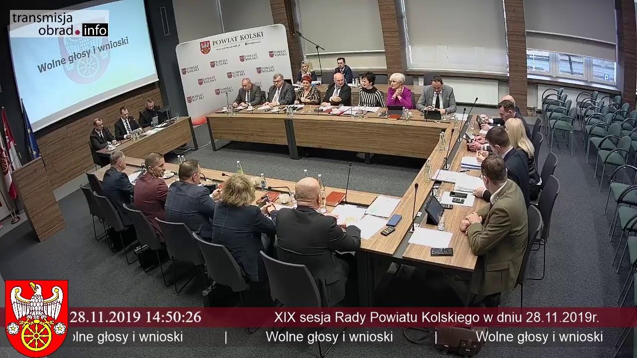Zdjęcie do XIX Sesja Rady Powiatu Kolskiego