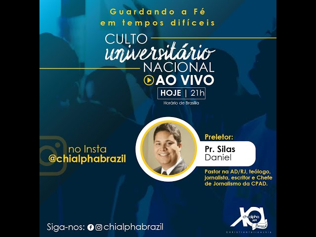 Culto Universitário Nacional com o Pr. Silas Daniel (02/04/2020) – Chi Alpha Brasil