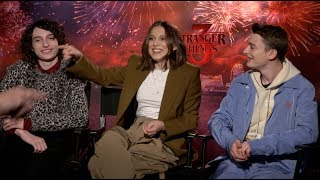 STRANGER THINGS 3 interviews - Wolfhard, Brown, Schnapp, Keery, Matarazzo, Montgomery, Sink, Duffer