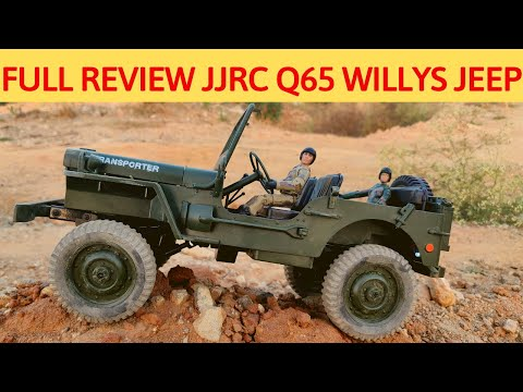 FULL REVIEW – JJRC Q65 WILLYS JEEP – UNBOX,TEST RUN – 1/10 SCALE MILITARY TRUCK $40 | RC WITH POPEYE