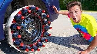 Driving With A COCA COLA TIRE!