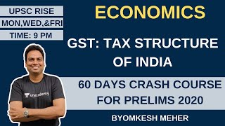 L4: GST: Tax Structure in India | Economics | 60 Days Crash Course for Prelims 2020 | Byomkesh Meher