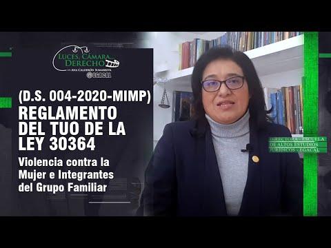 VIOLENCIA CONTRA LA MUJER Y LA FAMILIA - REGLAMENTO DEL TUO DE LA LEY N° 30364 - LCD 192