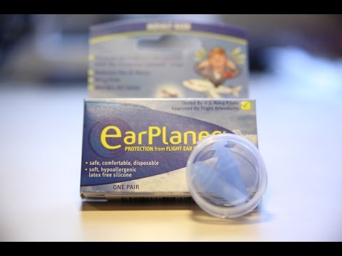 Earplanes - Ohrenstöpsel gegen Schmerzen beim Fliegen (Druckausgleich)