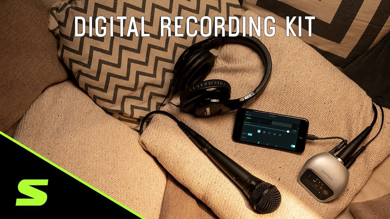 Shure Digital Recording Kit: MVi Audio Interface + PGA Vocal Mic + SRH240A Headphones
