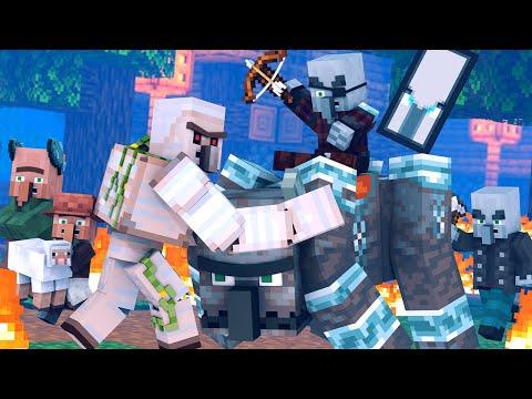 Villager vs Pillager Life: FULL ANIMATION - Minecraft Animation