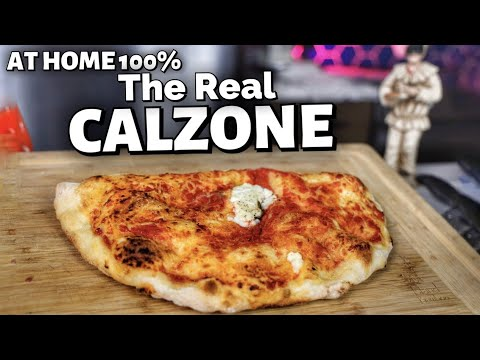 How To Make Real NEAPOLITAN CALZONE at Home