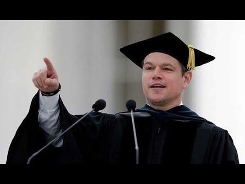 Matt Damon馬特達蒙MIT畢業典禮演講2016【中英雙語】 Matt Damon MIT commencement address