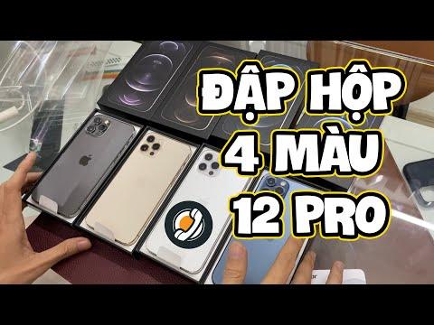 Đập hộp 4 màu iPhone 12 Pro