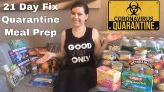 21 Day Fix Quarantine 14 Day Meal Prep