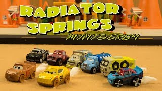 Radiator Springs Mini Derby | Lightning McQueen and Cruz Ramirez are stuck in another derby!