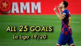 The 7th Pichichi Of Lionel Messi ● All 25 Goals In La Liga 2019/20