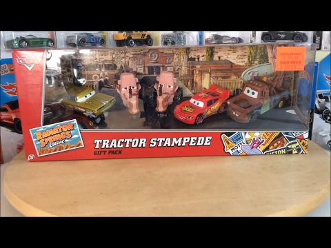 Disney Pixar Cars 2015 Tractor Stampede 5 Car Set Review!