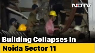 2 Dead As Under-Construction Building Collapses In Noida  IMAGES, GIF, ANIMATED GIF, WALLPAPER, STICKER FOR WHATSAPP & FACEBOOK