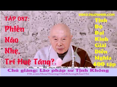 TẬP 087, Phiền Não Nhẹ, Trí Huệ Tăng, Tịnh Độ Đại Kinh Giải Diễn Nghĩa, lần thứ 11, 2010