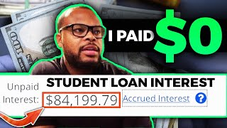 $84,199.79 in student loan interest | Why I decided to pay $0 on student loans
