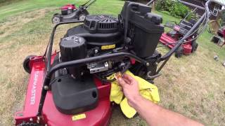 """How to tighten the blade cable on a Toro/Exmark 30"""" mower"""
