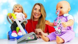 Baby Born Emma räumt ihr Zimmer auf. Spielzeug Video mit Puppen.