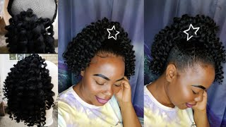 Fluffy Pineapple Jumbo Crochet Ponytail Updo: Protective Style/Natural Hair