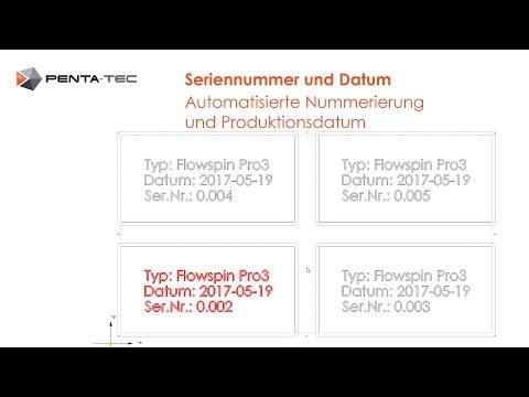 PENTA-NC: Seriennummer und Datum automatisch vergeben