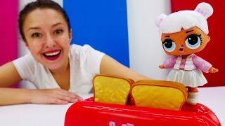 Куклы Лол в видео для детей. Тостер. Веселая школа