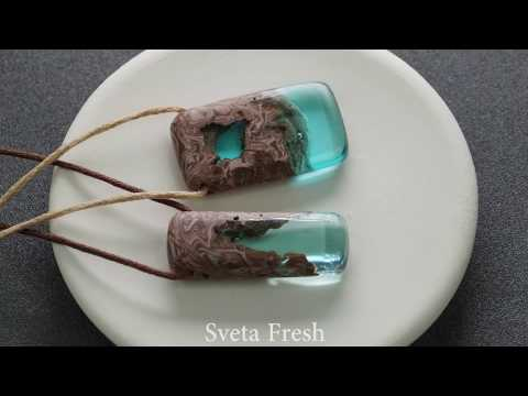 DIY PENDANTS MADE OUT OF AN EPOXY RESIN / Alcohol ink / Polymer Clay Tutorial