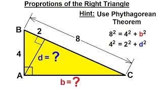 Geometry - Basic Terminology (22 Of 36) Proportions Of The Right Triangle