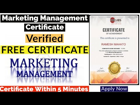 Free Online Course With Certificate | Marketing Management | Free ...