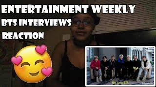 BTS ENTERTAINMENT WEEKLY INTERVIEWS   REACTION/REVIEW