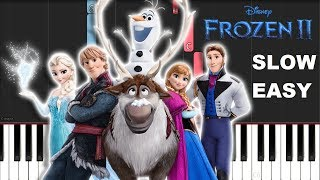 Panic At The Disco - Into The Unknown from Frozen 2 (SLOW EASY PIANO TUTORIAL)